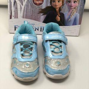 Disney frozen 2 light up sneakers girl size 12